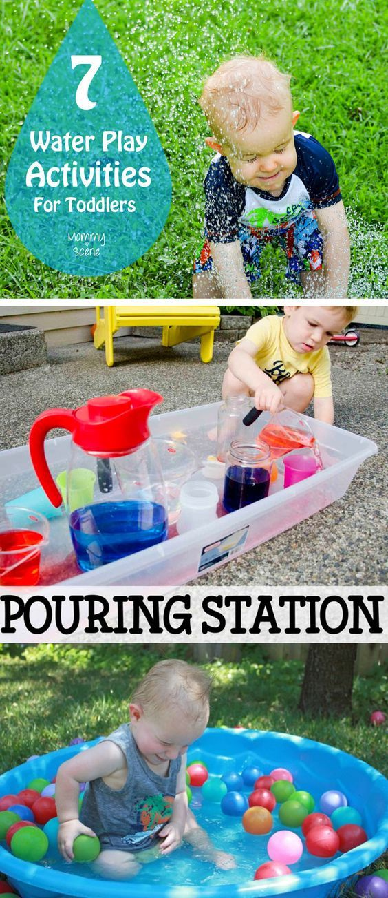 7 Water Play Activities for Toddlers Actividades, Juguetes y