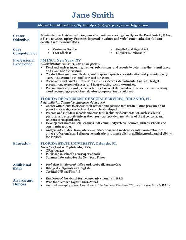 resume template blue executive
