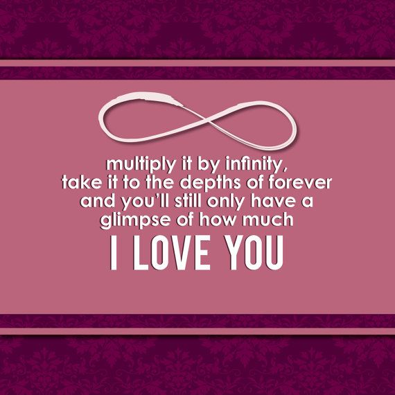 Infinity Quotes I Love You Infinity Forever Wall Art Quote For Mother Boyfriend .