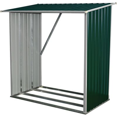Best Stonegate Designs Galvanized Wood Shed — 2 3 Cord Capacity Model Ws 002 Lean To Shelter 400 x 300