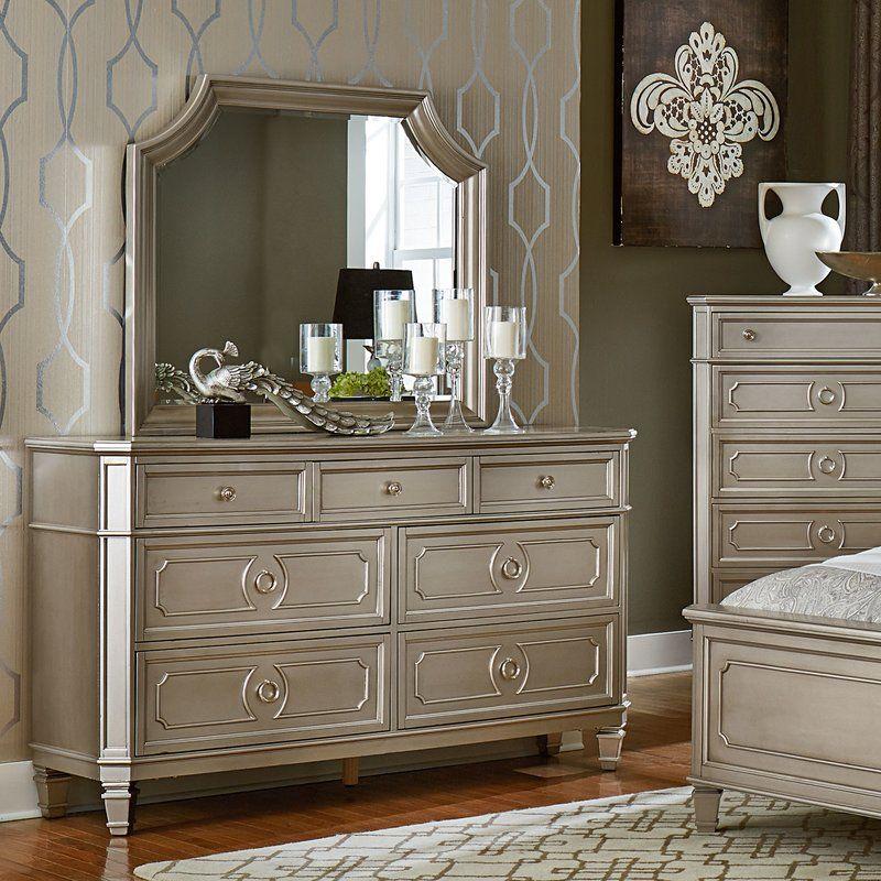 Haneul 7 Drawer Dresser with Mirror Dresser with mirror
