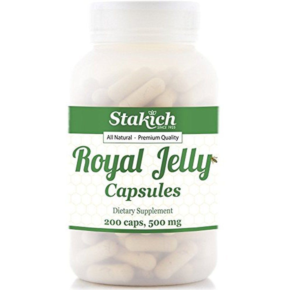200 Royal Jelly Capsules 500 Mg Pure Naturally Rich Vitamins Best Green Coffee Capsule Arabica Organic 60 Caps Stakich Natural Lyophilized High Quality 100