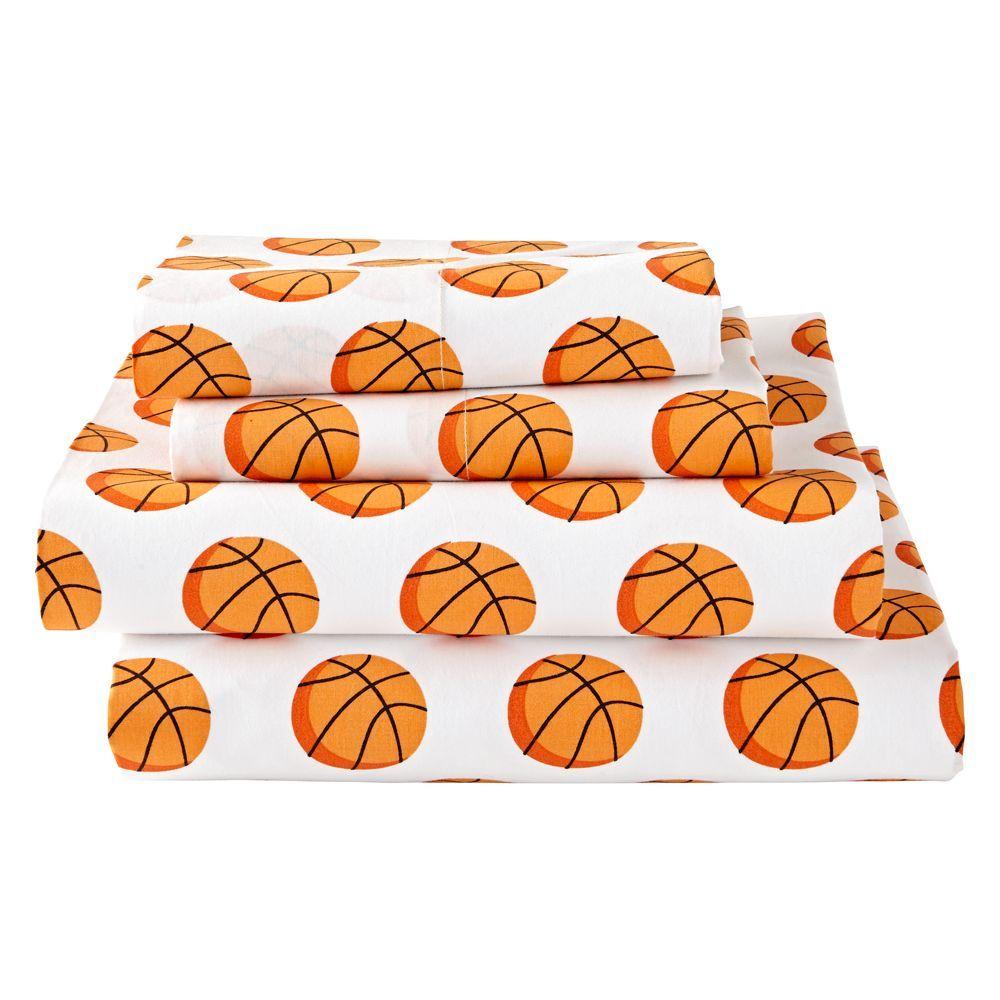 Queen Pillowfort Basketball Sheet Set