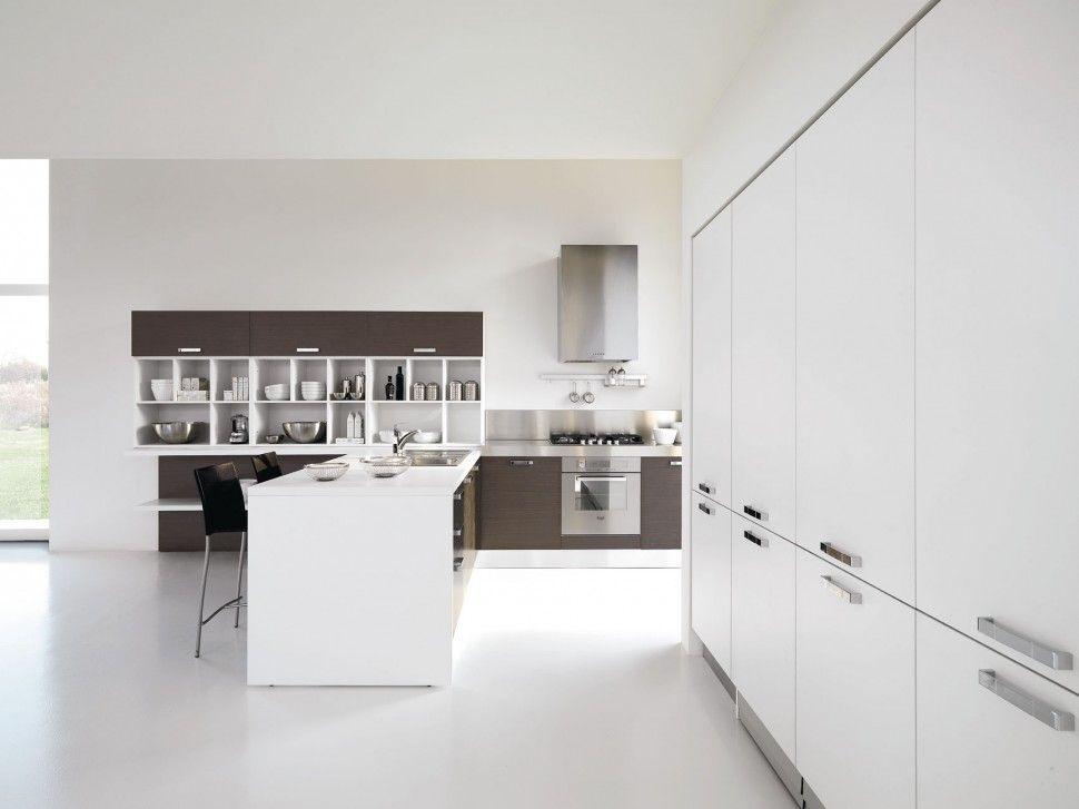 Una cucina per riscrivere il concetto di total white. | Cucine ...
