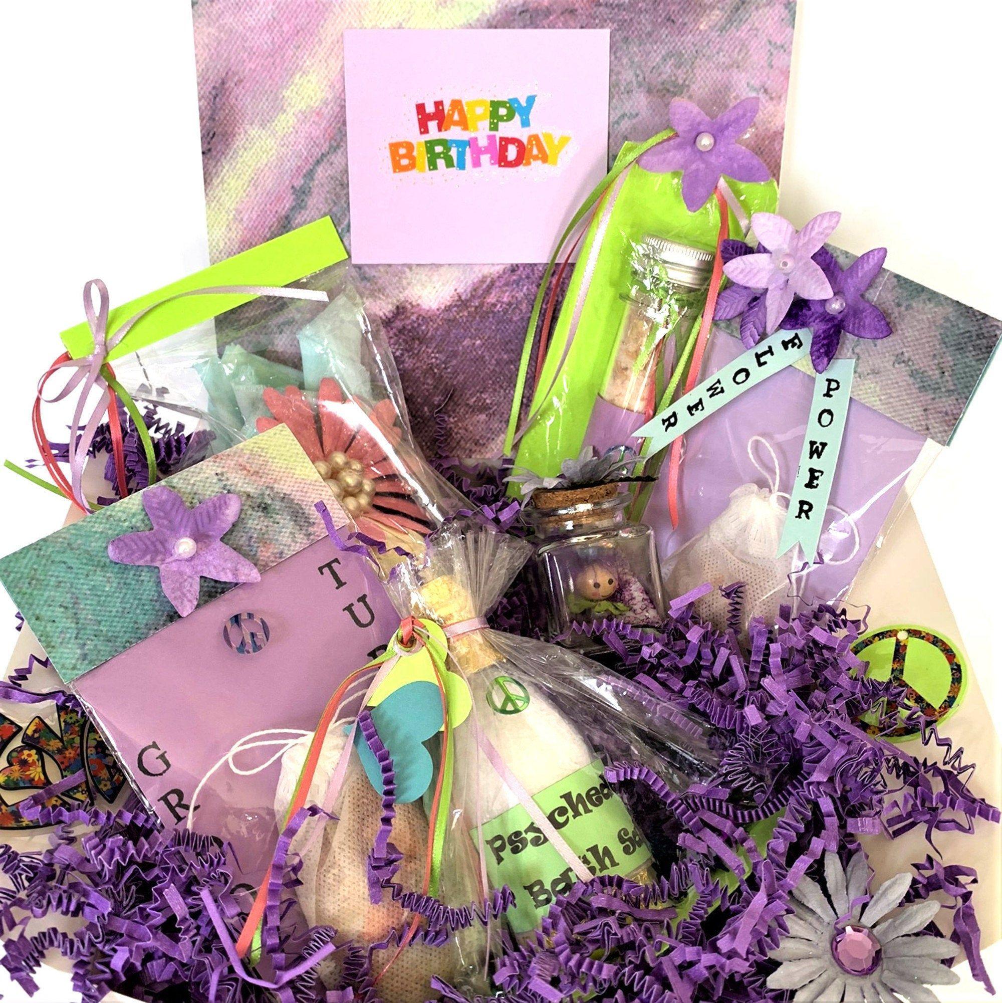 60th birthday gift flower power birthday box funny gift