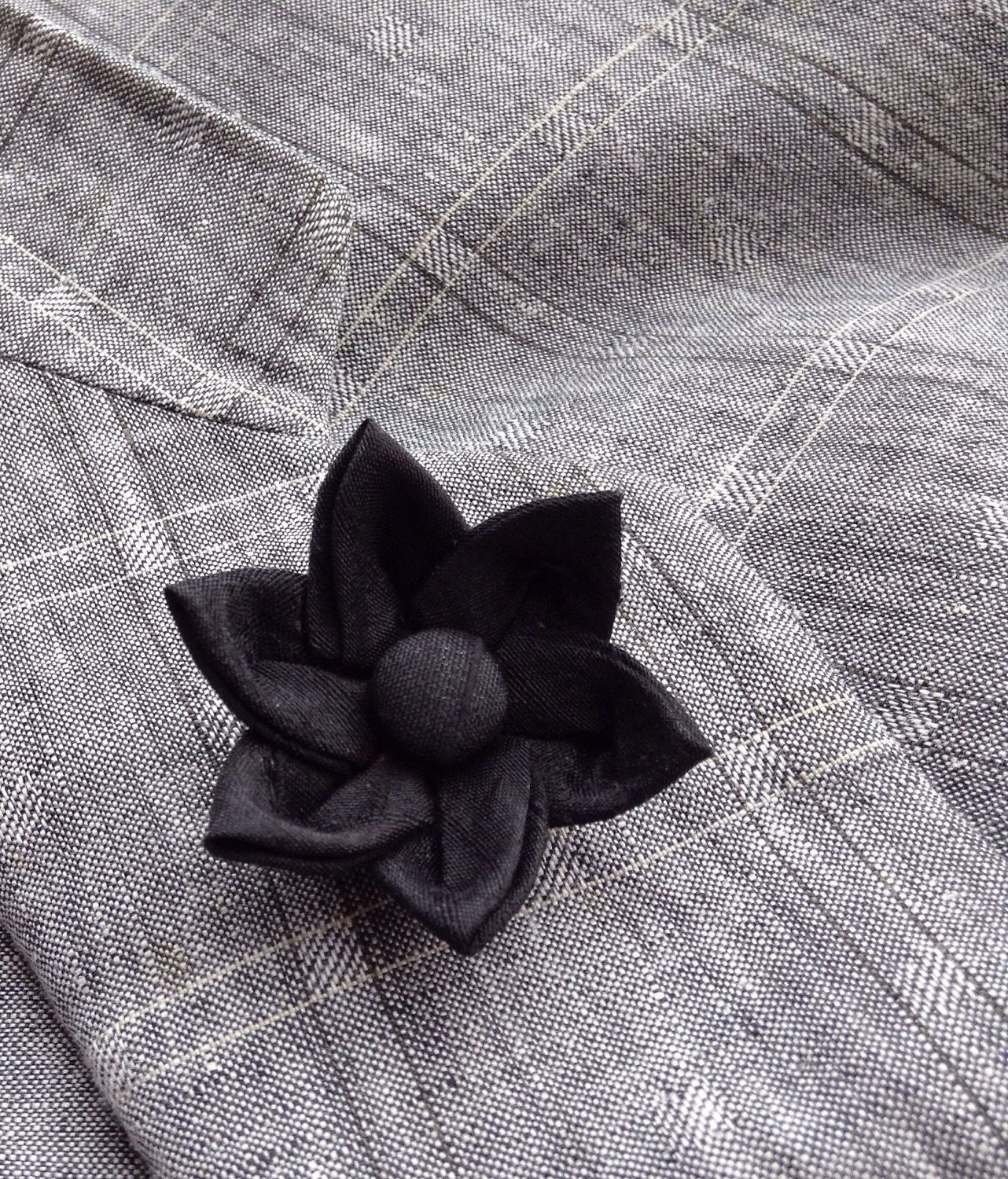 Silk Boutonniere Mens Lapel Pin Flower Lapel Pin Black Lapel Flower Kanzashi Brooch Custom Lapel Pins Men Groomsman Graduation Gift For Him by exquisitelapel on Etsy https://www.etsy.com/listing/506617546/silk-boutonniere-mens-lapel-pin-flower