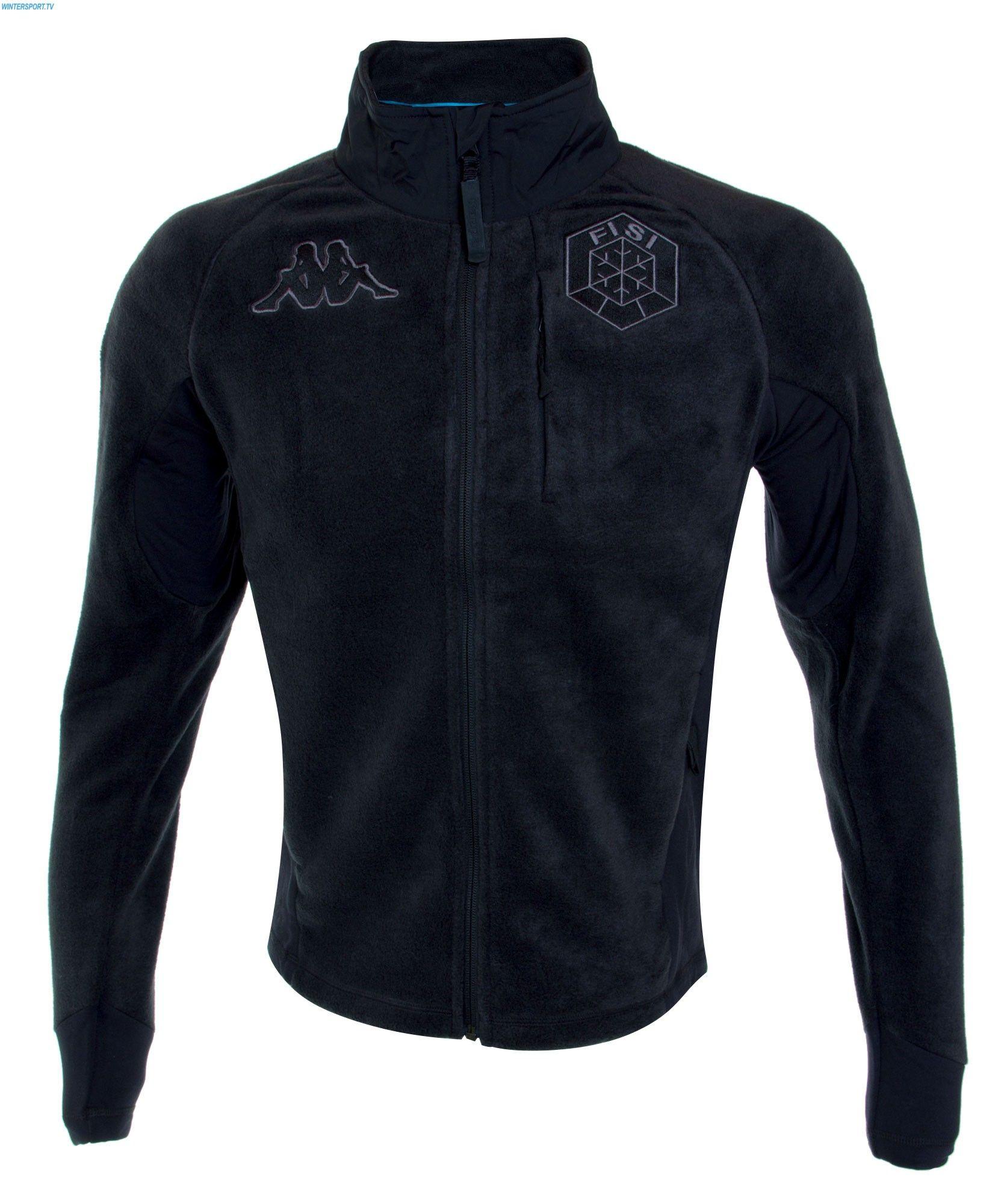 Kappa Men Italian Team FISI Fleece Jacket - Black (Limited Edition ... 266eb165de5