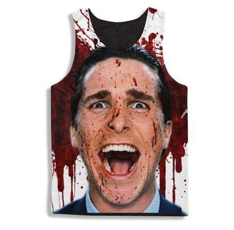 American Psycho Splattered Tanktop