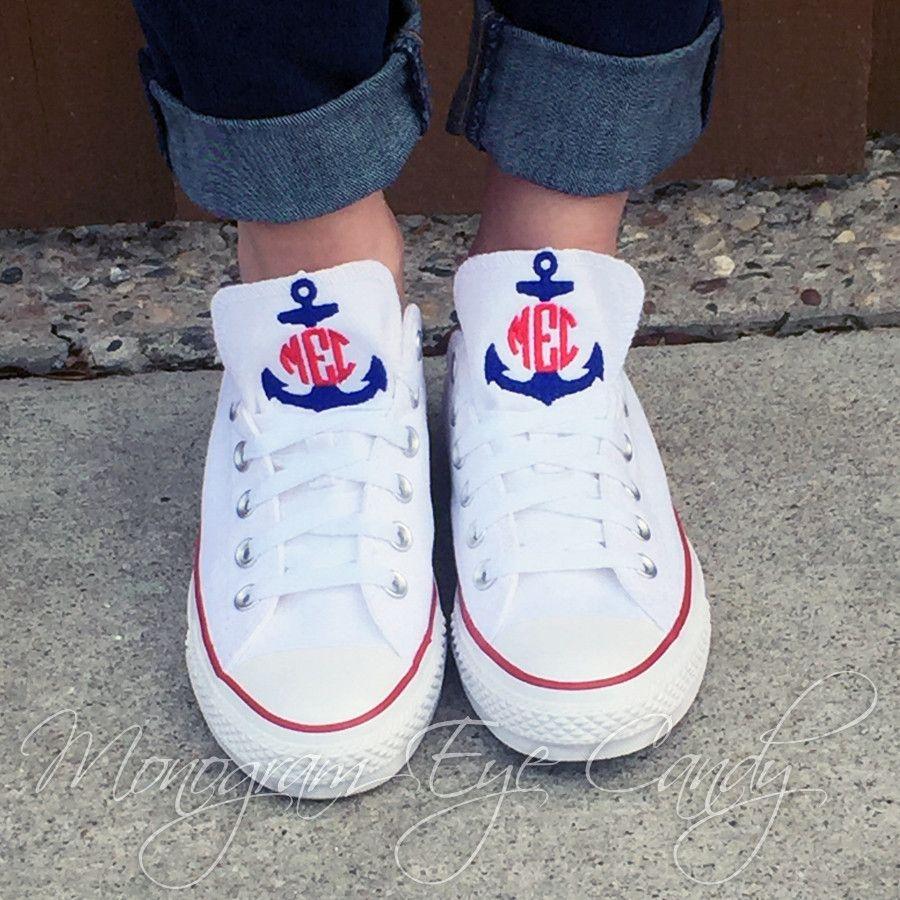 569a3fe29ba6 Monogram Converse Sneakers- Split Anchor