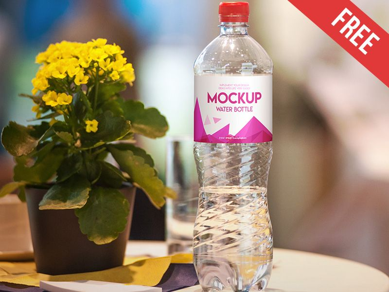 Download Free Water Bottle Mock-up in PSD (Dengan gambar) Free Mockups