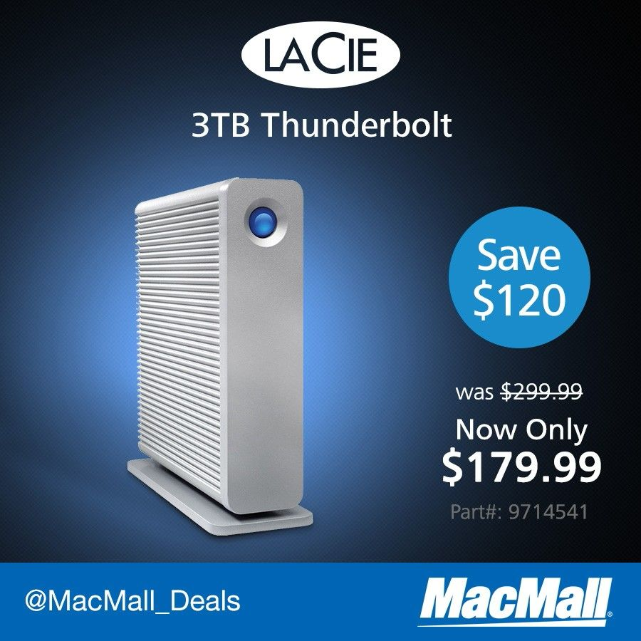 Pin By Macmall On Deal Of The Day External Hard Drive Thunderbolt Driving