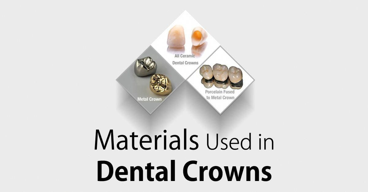 Crowns Typically Are Made From Four Materials Gold Base Metal Alloys Ceramic Or Porcelain Fused Metal A Dentist Will Be Ab Dental Crowns Dds Dental Dental