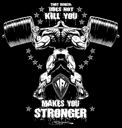 Makes you stronger t shirt designs pinterest for Gimnasio 5 dragones