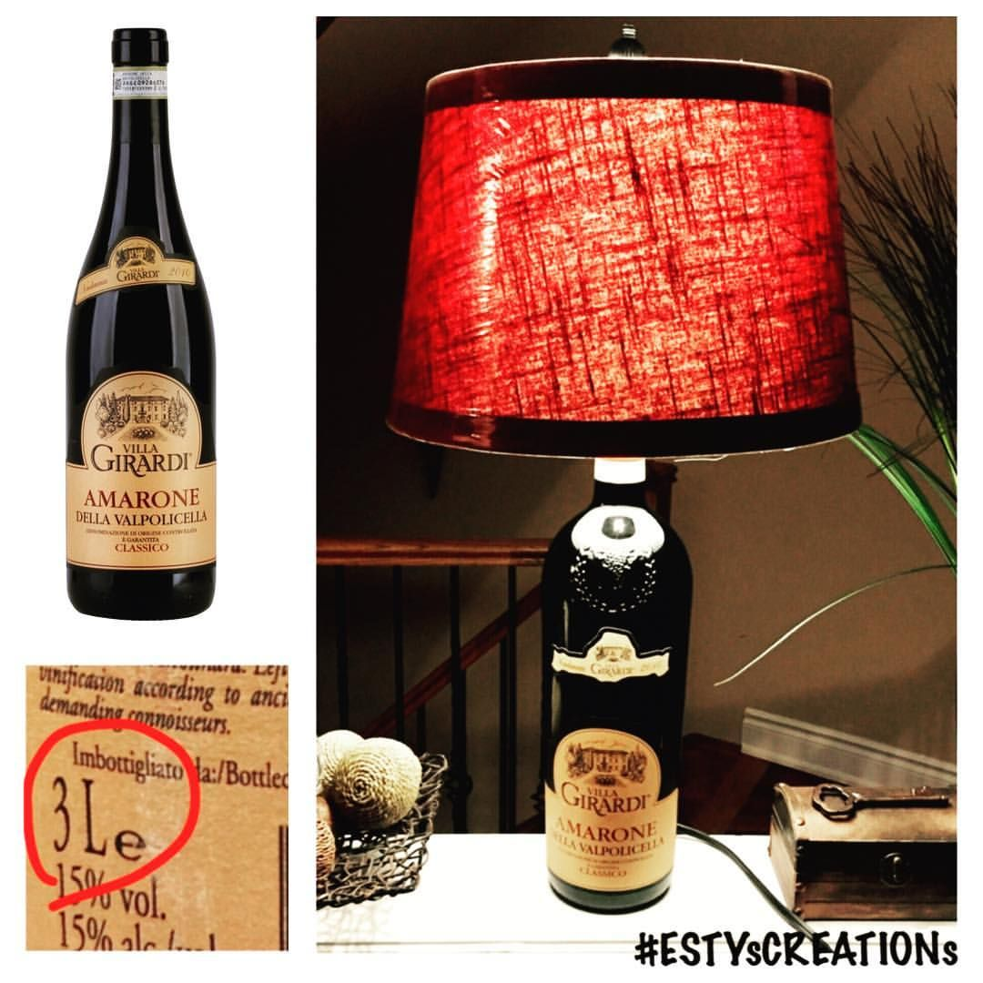 What S Better Than Drinking 750ml Of Red Wine Alone Sharing A 3l Bottle With Friends Wine Lamp By Estyscreations For More Wine Night Lamp Table Lamp