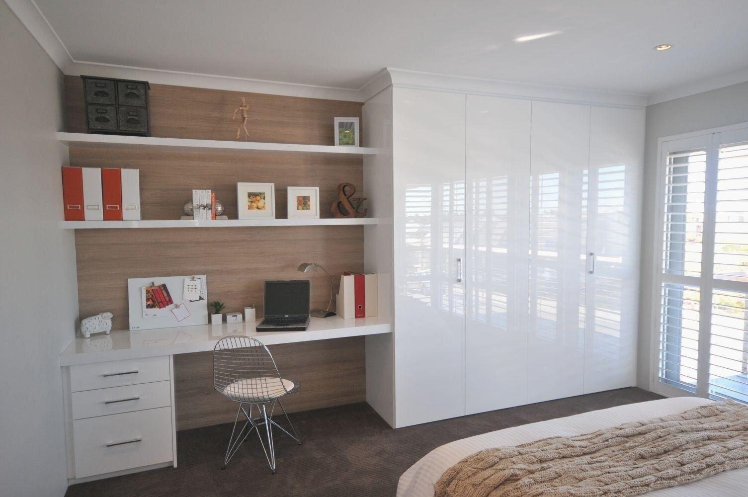 Built in wardrobe & desk in 2020 Build a closet, Built