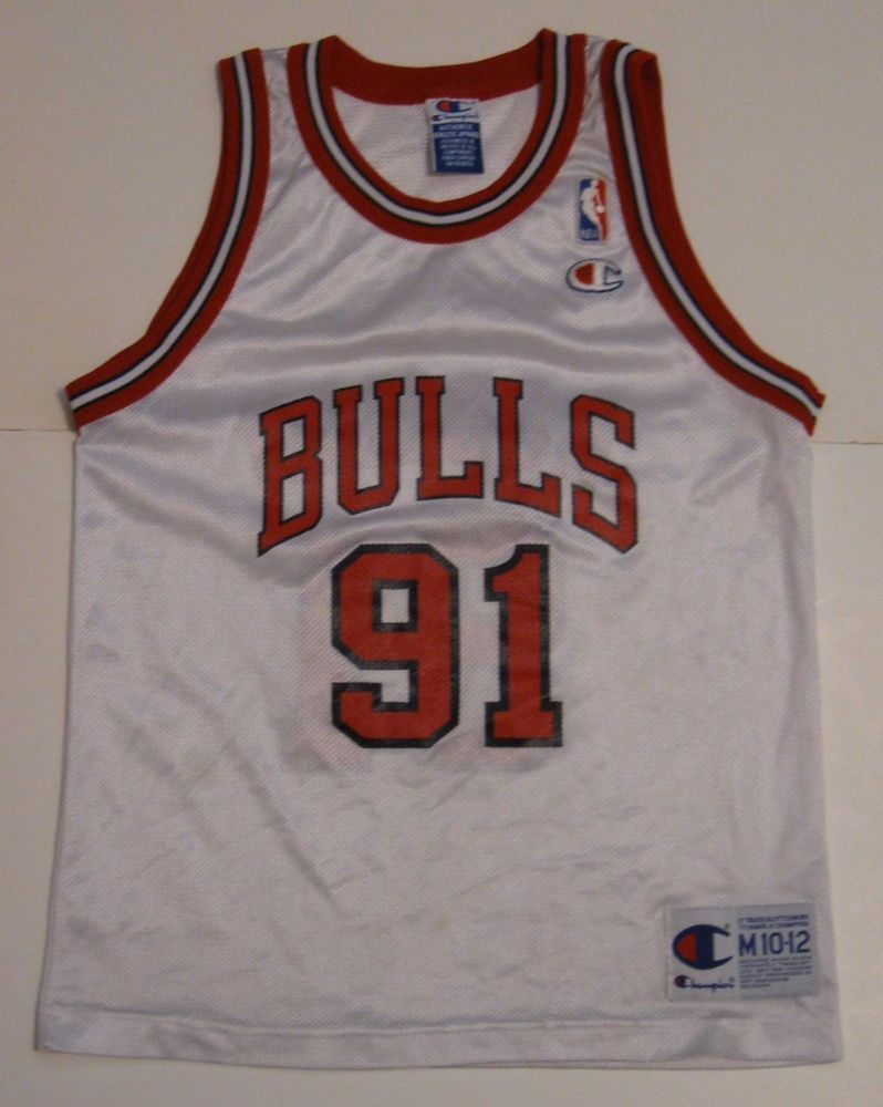 premium selection ba363 b0561 M Youth Champion Dennis Rodman Chicago Bulls NBA Basketball ...