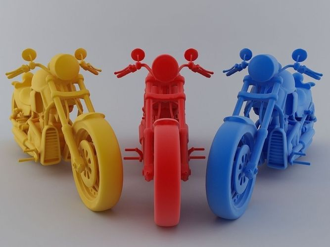 motorbike model printable stl cgtradercom