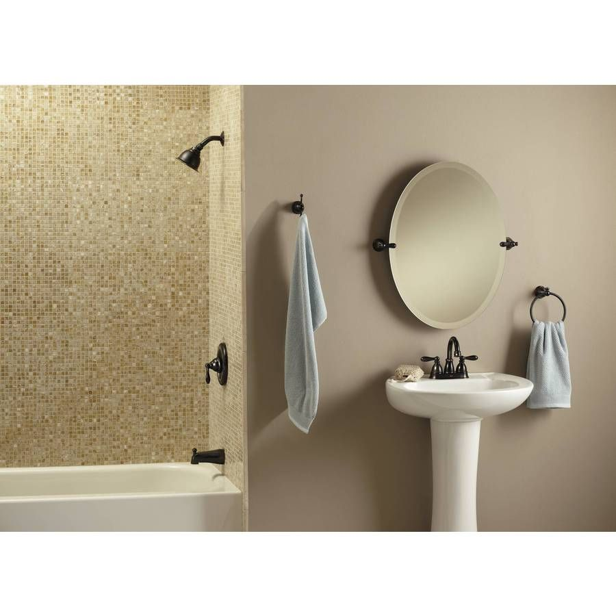 Shop Moen Caldwell Mediterranean Bronze 1-Handle WaterSense Bathtub ...