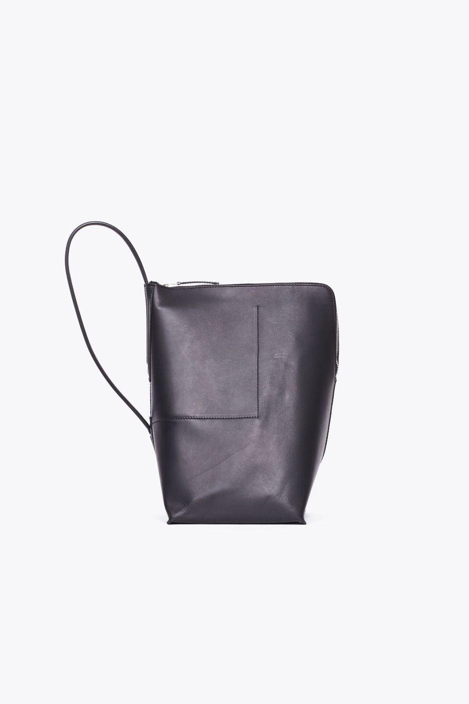 c142e01f4a MINIMAL + CLASSIC  Rick Owens Bucket Bag (Black)