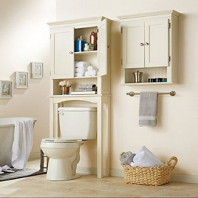 space saver cabinet in ivory from at bed bath beyond this elegantly designed fairmont free standing space saver cabinet fits neatly over the toilet
