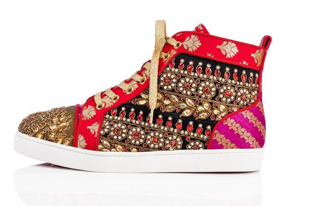 1c8c9ee92d3 Christian Louboutin x Sabyasachi sneakers. #ChristianLouboutin ...