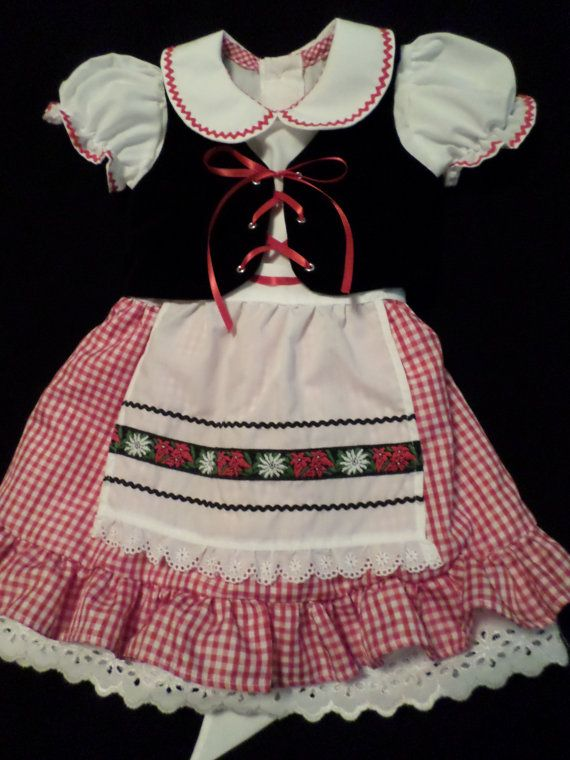 f09e796daa94 Little Girls Oktoberfest Inspired Dirndl Costume by mygrayshed, $50.00. Cute .