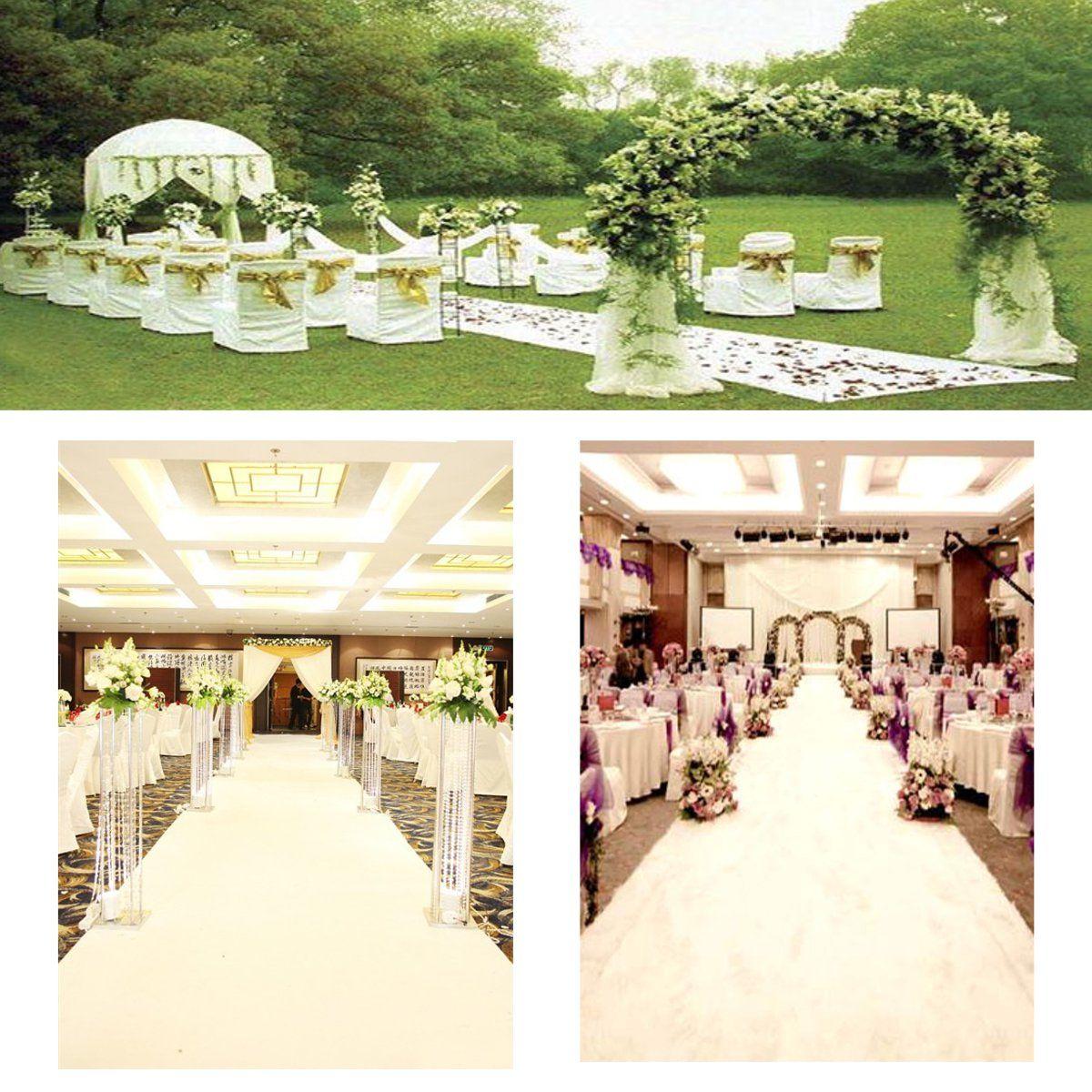 Floor runner white polyester carpet wedding aisle