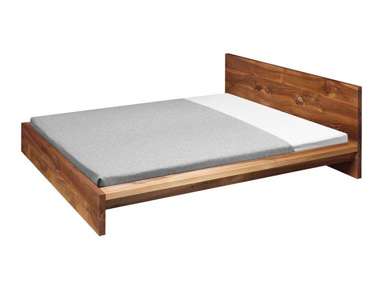 Cama doble de madera SL02 MO by e15   diseño Philipp Mainzer   bases ...