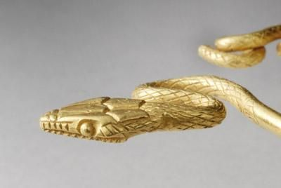 ROMAN GOLD SNAKE BRACELET NEW YORK ANIMALS DATE 1st Century AD