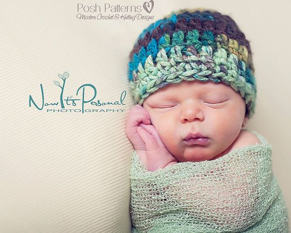 Crochet Hat PATTERN  Simple Beanie With Flower by PoshPatterns