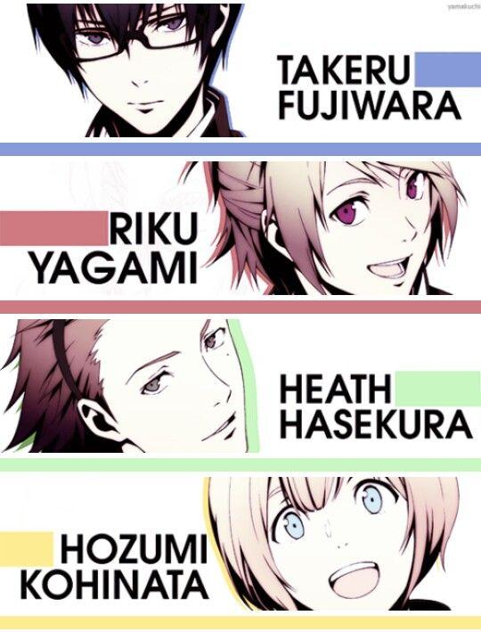Riku Yagami, Takeru Fujiwara,  Hozumi Kohinata and Heath Hasekura from Prince of Stride Alternative