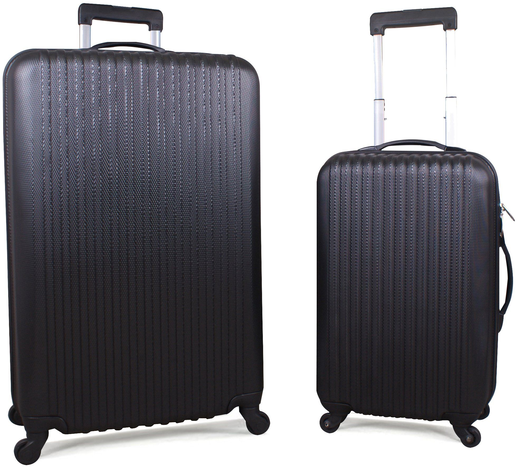 Luggage 20 Inch & 28 Inch 2 Piece Spinner Set - Black - by Utopia ...