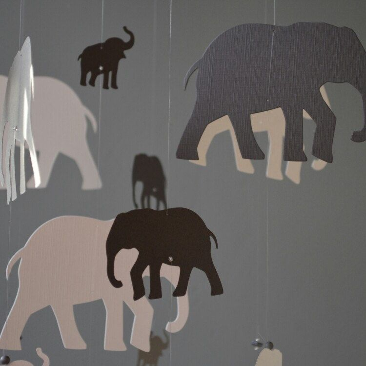 New awesome elegant grey elephant mobile for your nursery or as awesome elegant grey elephant mobile for your nursery or as baby gift negle Image collections