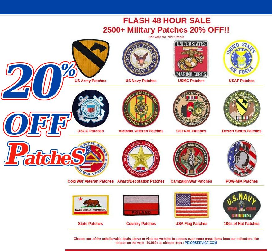 48 Hour Sale 2500 Patches 20 Off Https Www Priorservice Com Milpat Html Veterans Sale Army Navy Usmc Army Patches Us Army Patches Veteran Patches