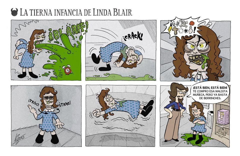 La tierna infancia de Linda Blair