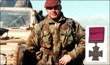 On duty ... with Army on Afghan tour, and inset, the Victoria Cross Bryan Budd VC
