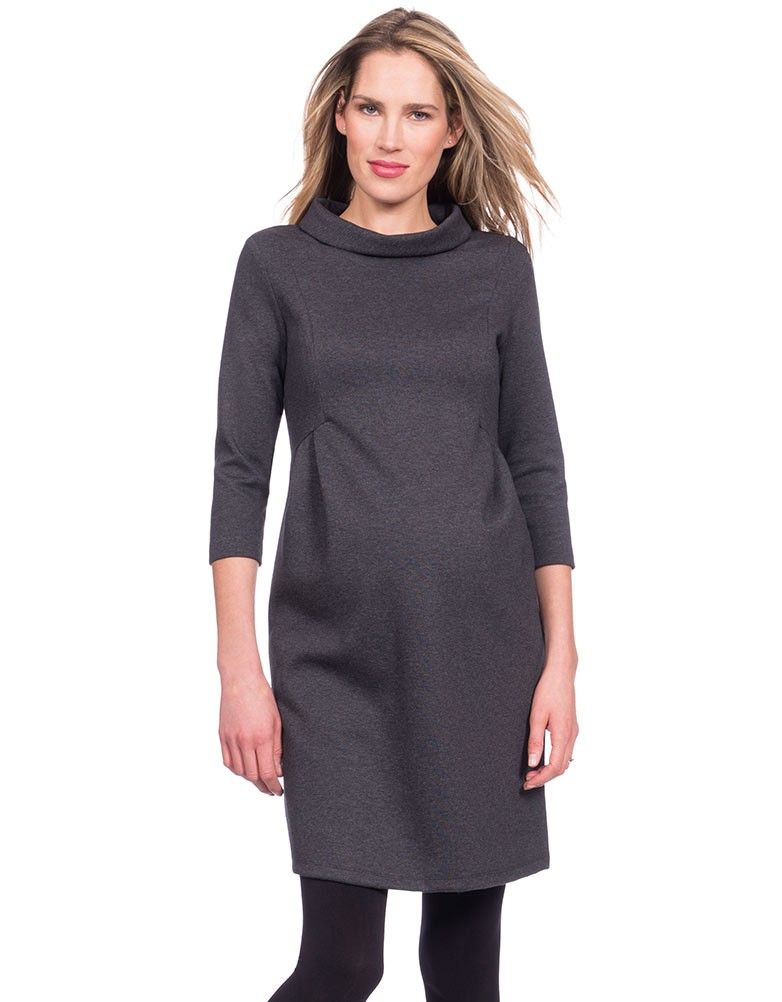 53543d5dd0477 Seraphine's Funnel Neck Maternity Dress is a chic option, which ensures a  flattering fit through every stage of pregnancy.
