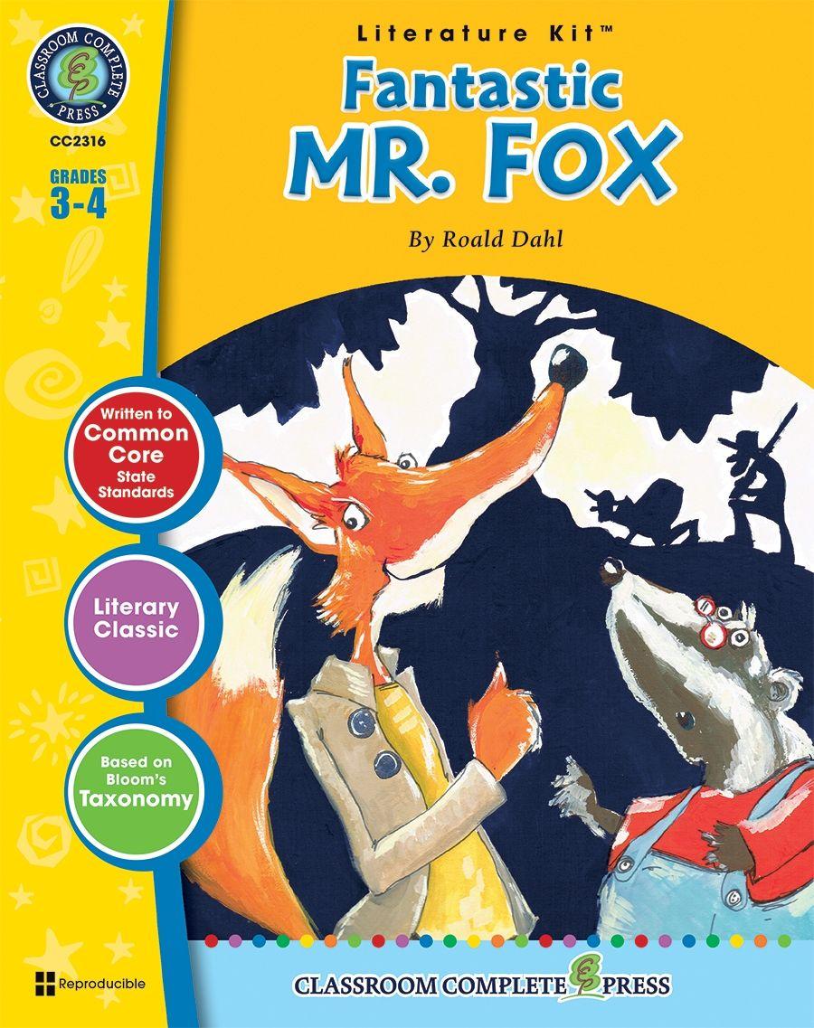 Fantastic Mr Fox Literature Kit Study Guide Classroom