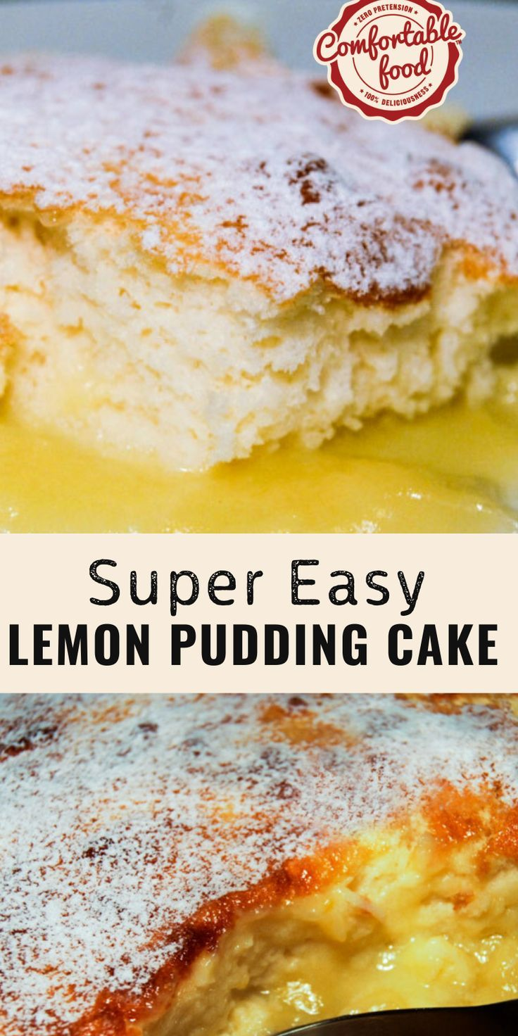 Super Easy Lemon Pudding Cake