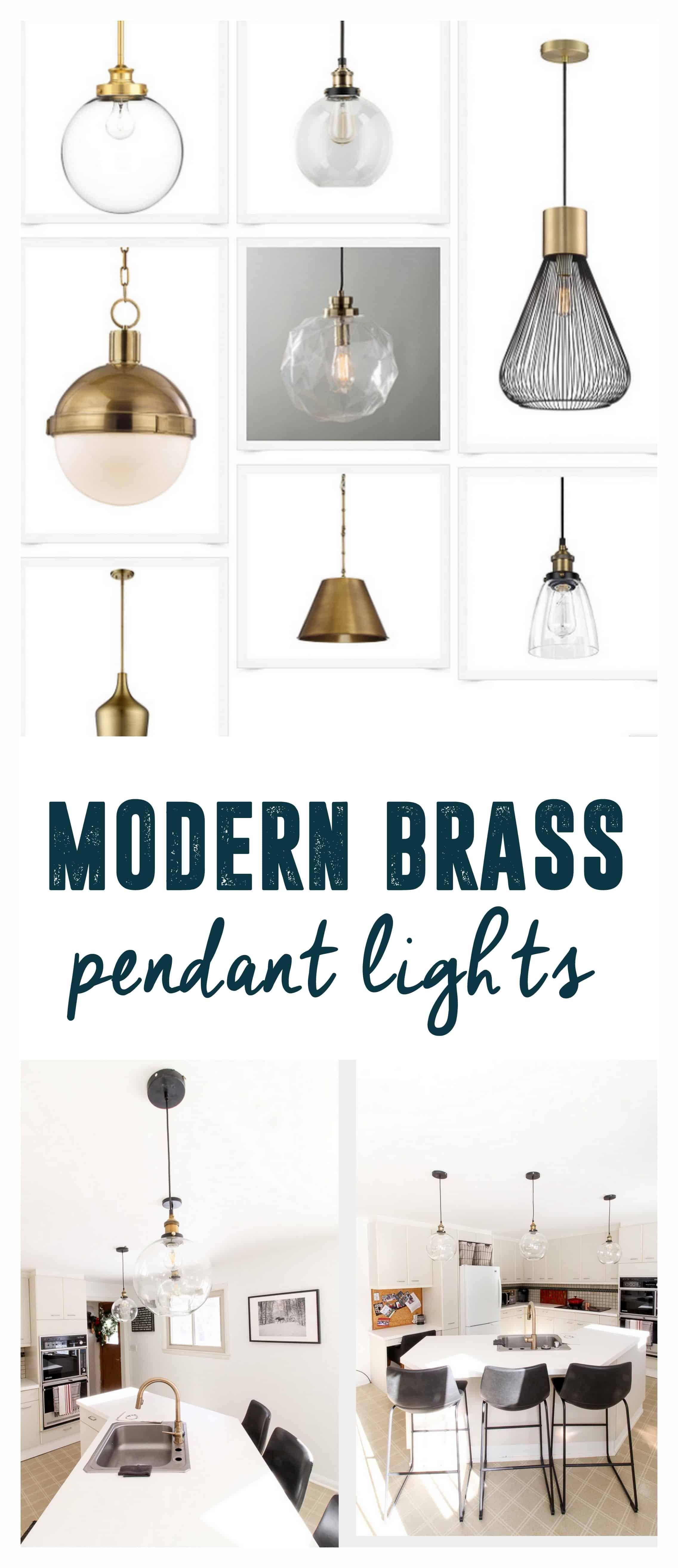 Modern brass pendant lights for the kitchen kitchen pinterest