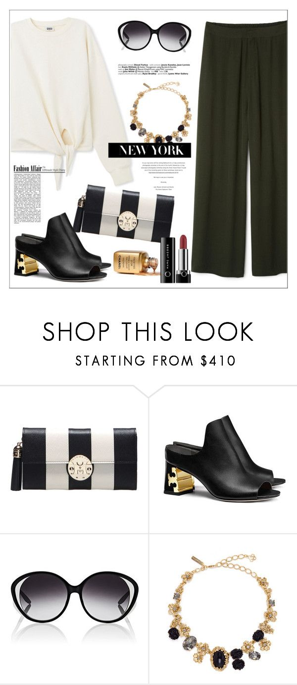 """""""Dillion Trousers"""" by biange ❤ liked on Polyvore featuring Metrocity, Tory Burch, Barton Perreira and Oscar de la Renta"""