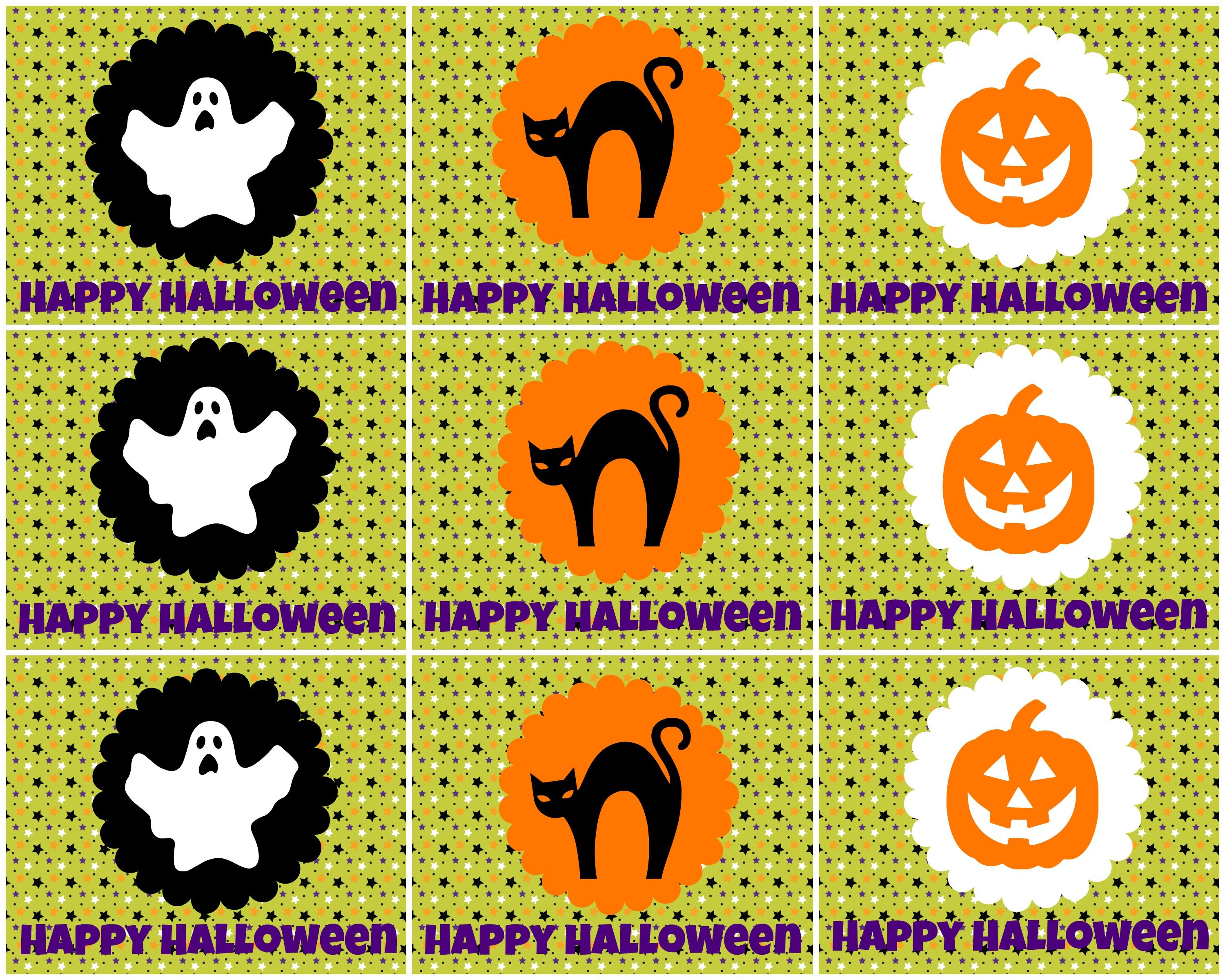 free printable halloween tags for treat bags labels and more - Halloween Pictures Free