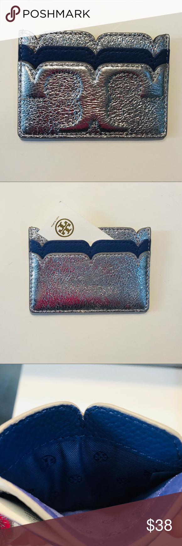 TORY BURCH Leather Serif T Business Card Holder | Serif, Business ...