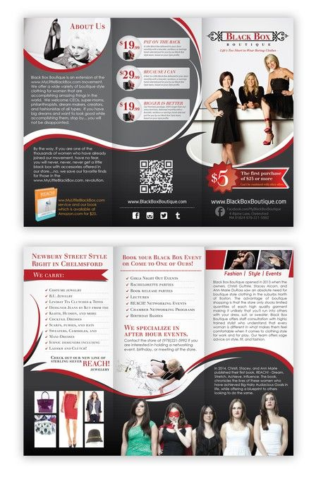 Make Us An Awesome Brochure For Black Box Boutique By Arttero