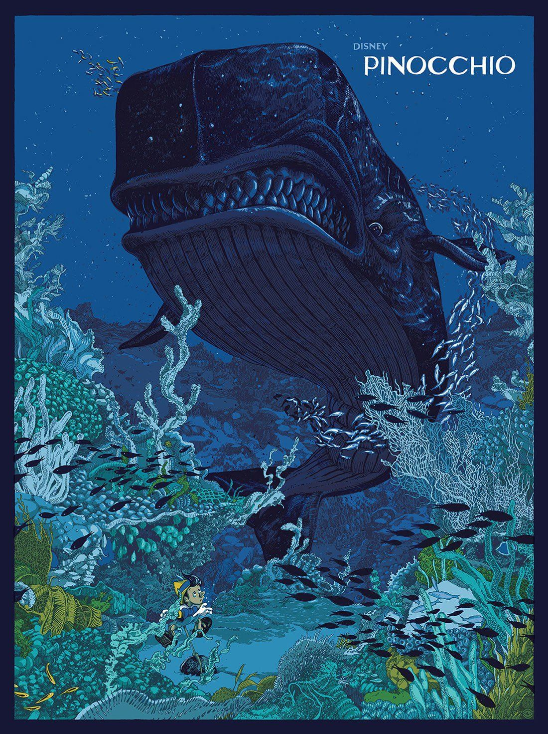 Cool For its uping show Mondo asked artists to draw posters for classic Disney animated movies