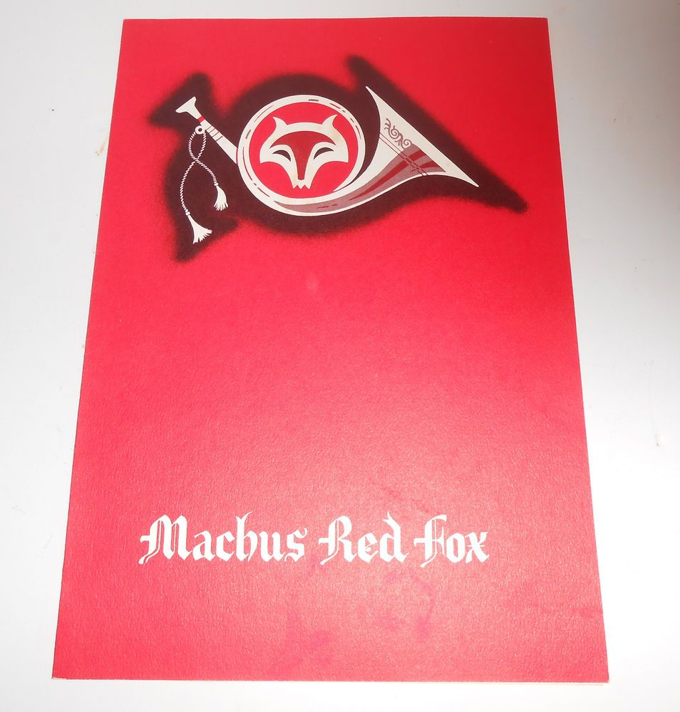 Machus Red Fox Restaurant Menu 1960s Jimmy Hoffas Last Meal