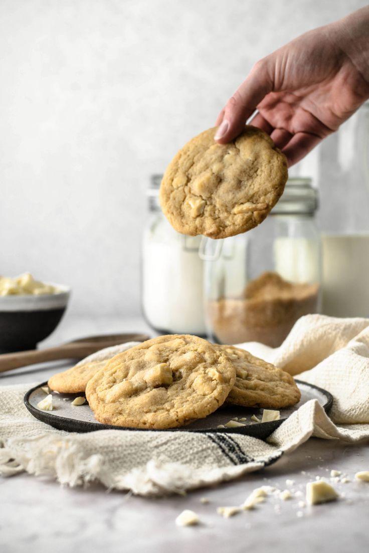 Weiße Schokoladen Cookies – Weiche Amerikanische Kekse