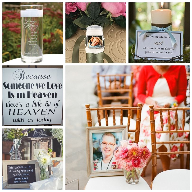 Before The I Do S Wedding Blog Eight Ways To Remember A Deceased Loved One At