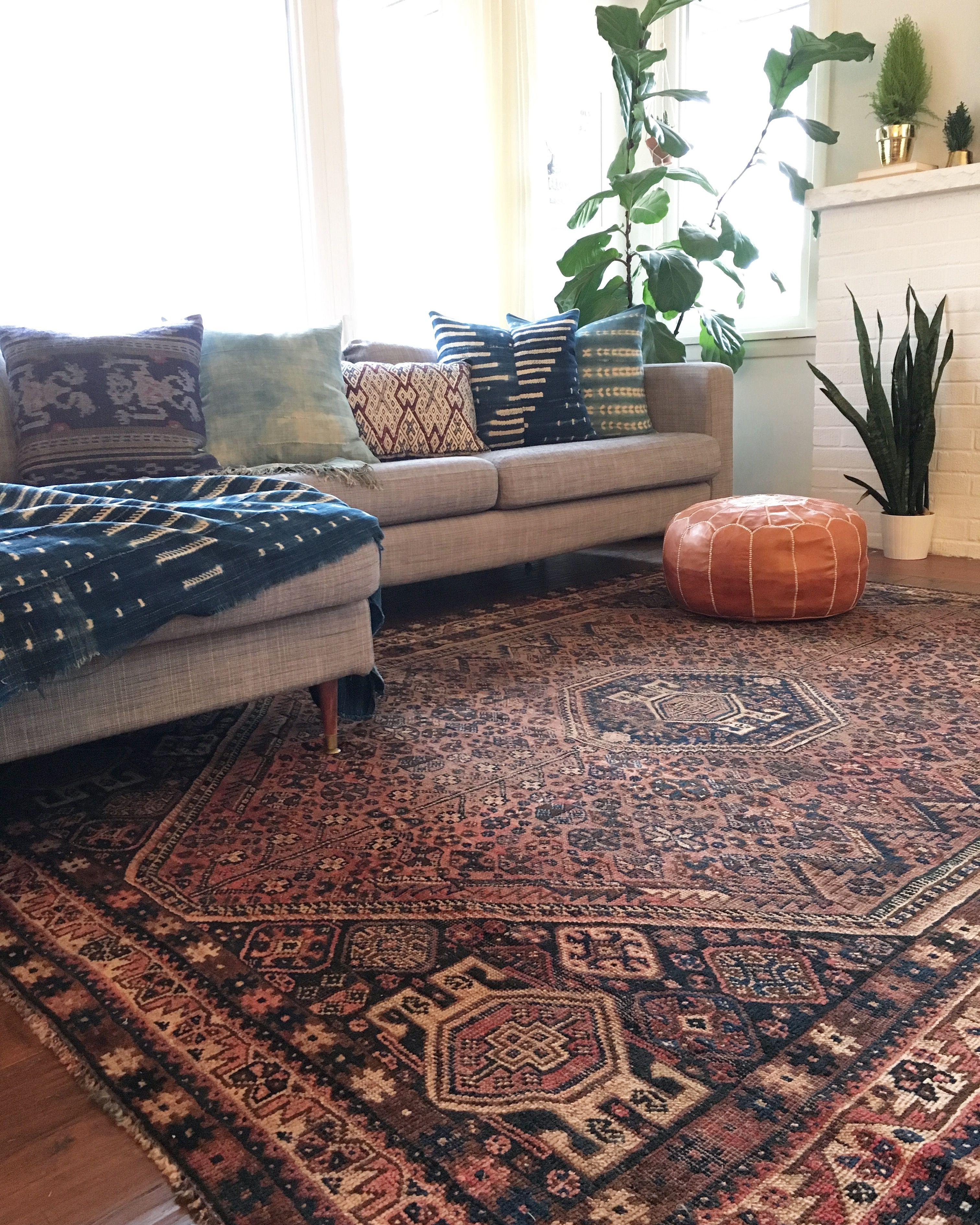 Persian rug African mudcloth Moroccan