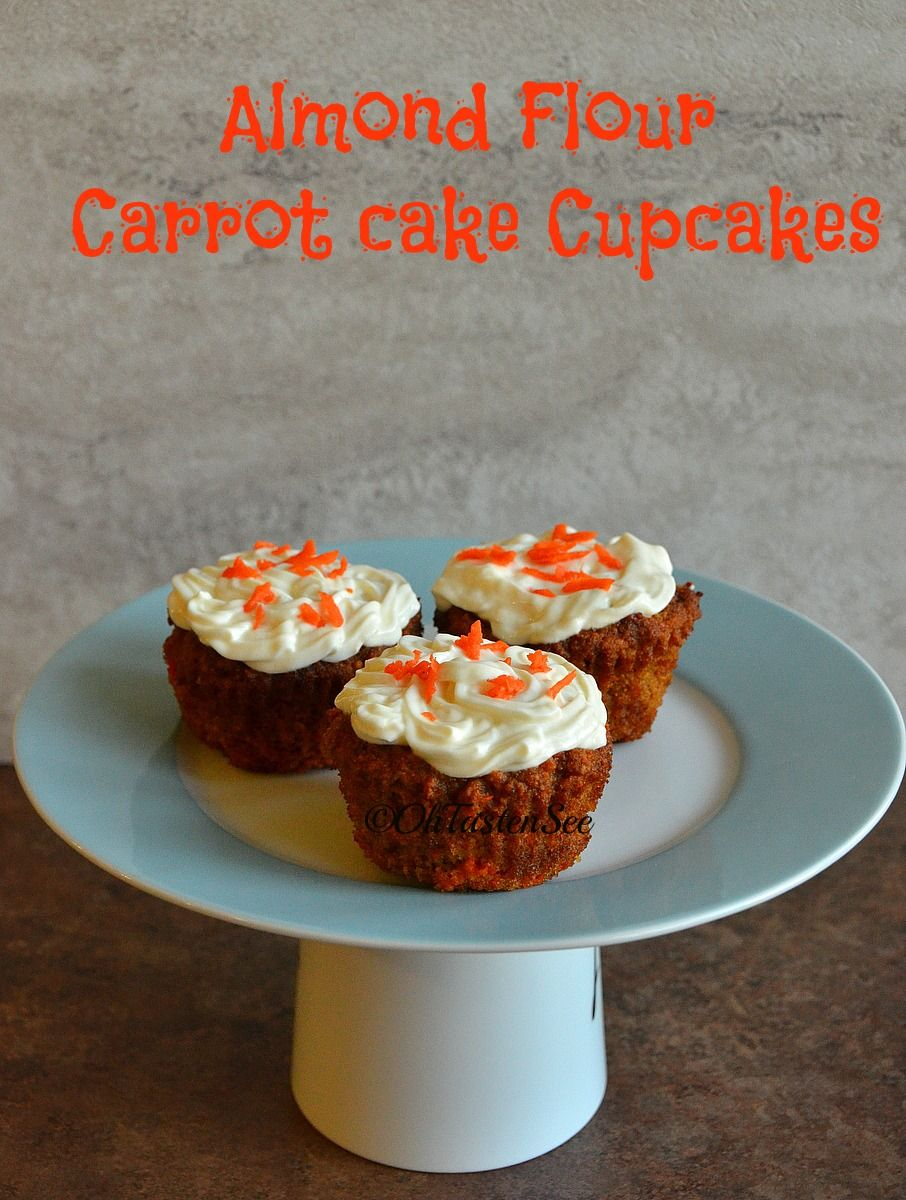 Almond Flour Carrot Cake Cupcakes with Greek Yogurt Frosting(Gluten Free/Refined Sugar Free/Low Carb)